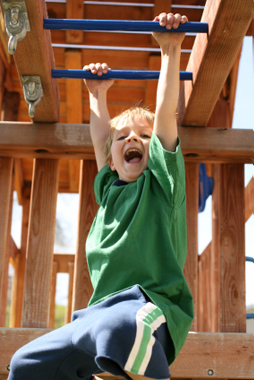 Child on Monkey Bars